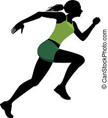 Weiblicher Läufer.