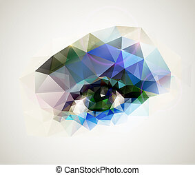 Weibliches Auge.