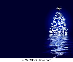 Weihnachtbaum-Hintergrund blau absetzen
