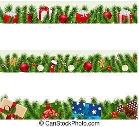 Weihnachten grenzt an großes Set.