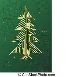 weihnachten, stromkreis, baum