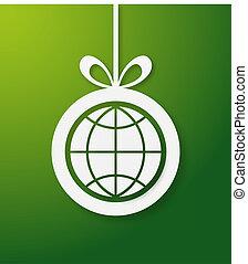 Weihnachtgrüner Weltbau