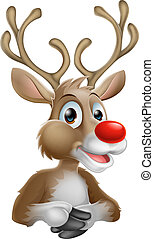Weihnachts-Cartoon Rentier.