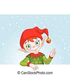 Weihnachts-Elfen-Einladungskarte