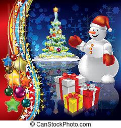 Weihnachts Hintergrund mit Baum abbrechen