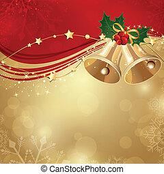 Weihnachts Hintergrund mit zwei Glocken