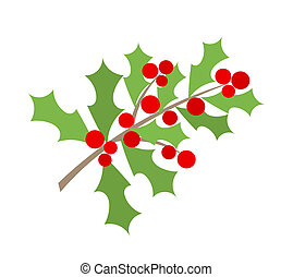 Weihnachts-Holly Berry Zweig
