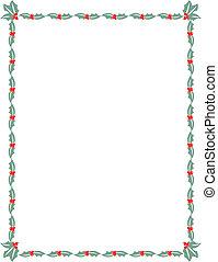 Weihnachts-Holly Grenzrahmen