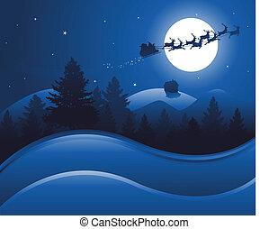 Weihnachts-Nacht-Hintergrund