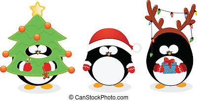 Weihnachts-Pinguine-Set
