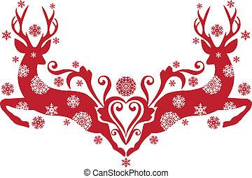 Weihnachts Rehe, Vektor