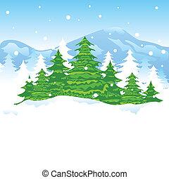 Weihnachts-Winterlandschaft