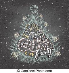 Weihnachtsabend Einladungskarton.