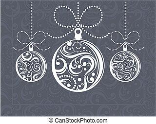 Weihnachtsbälle Grußkarte