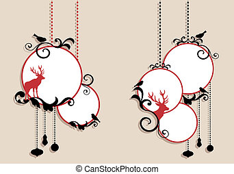 Weihnachtsbälle, Vektor