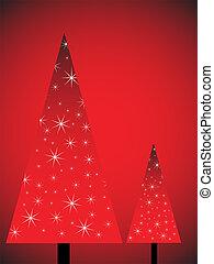 Weihnachtsbäume abbrechen