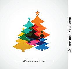 Weihnachtsbäume - bunter Hintergrund