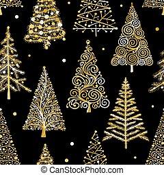 Weihnachtsbäume, nahtlose Muster für Ihr Design