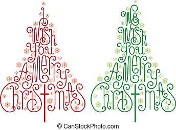 Weihnachtsbäume, Vektor