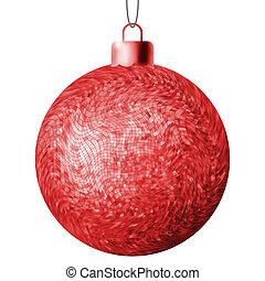 Weihnachtsball auf weißem Hintergrund. EPS 8