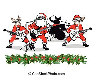 Weihnachtsband.