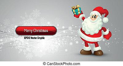 Weihnachtsbanner mit Santa Claus à EPS10 Vektor Hintergrund