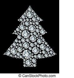 Weihnachtsbaum aus Diamanten.