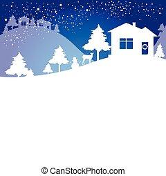 Weihnachtsbaum, blau und weiß.
