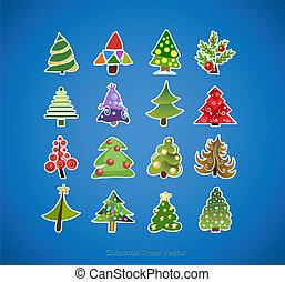 Weihnachtsbaum Ikonen Vektordesign.