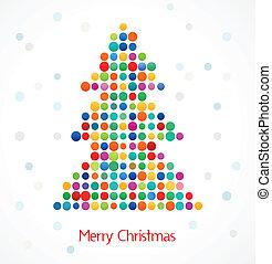 Weihnachtsbaum mit abstraktem Farbmuster
