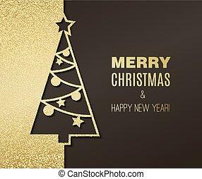 Weihnachtsbaum mit glitzernder Wirkung