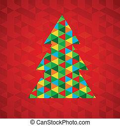 Weihnachtsbaum mit rotem Hintergrund abbrechen
