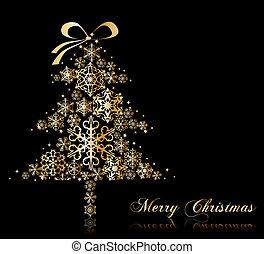 Weihnachtsbaum mit Sternen. Vector