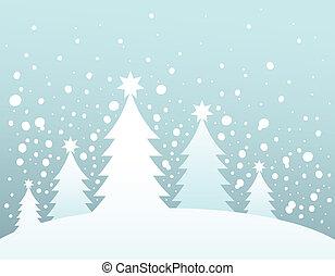 Weihnachtsbaum Silhouette Thema 3.