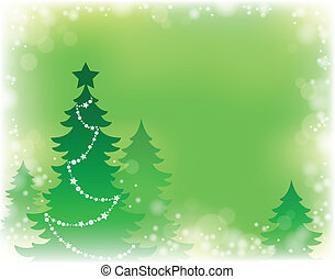 Weihnachtsbaum-Silhouette-Thema 3
