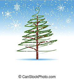 Weihnachtsbaum, Winter