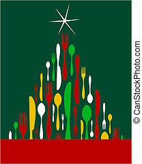 Weihnachtsbaumbesteck