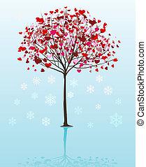 Weihnachtsbaumvektor-Hintergrund