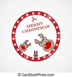Weihnachtsbilder mit lustigem Hirsch.