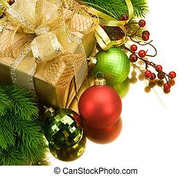 Weihnachtsdekoration. Auf weiß isoliert