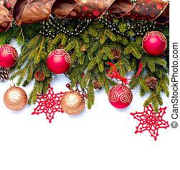 Weihnachtsdekoration. Weihnachtsdekoration isoliert auf weiß