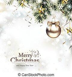 Weihnachtsdesign mit Weihnachtsschmuck.