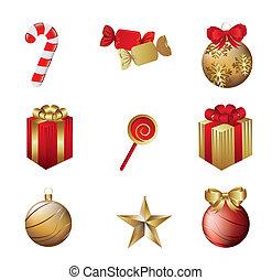 Weihnachtselemente