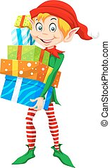 Weihnachtself, Illustration