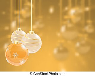 Weihnachtsfeiertag heller Hintergrund mit Ball