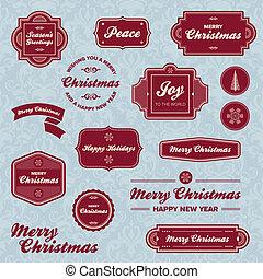 Weihnachtsfeiertagslabel