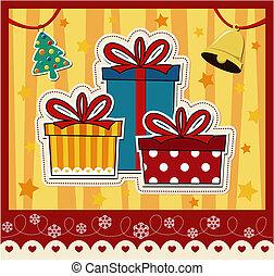 Weihnachtsgeschenkskarten