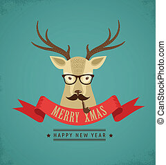 Weihnachtsgeschichte mit Hipster Hirschen und Band