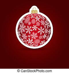 Weihnachtsgeschichte. Stickerball. Vektor Illustration.