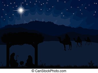 Weihnachtsgewohnheitsszene.